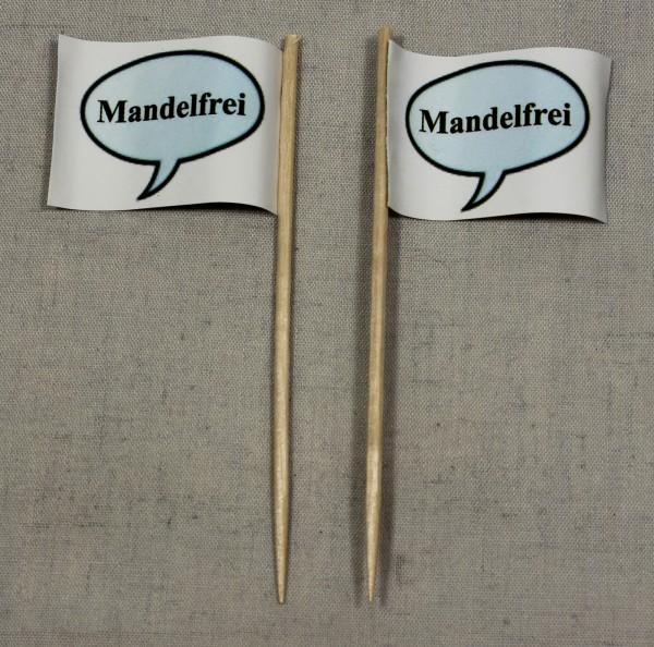 Party-Picker Flagge Mandelfrei Papierfähnchen in Spitzenqualität 50 Stück Beutel