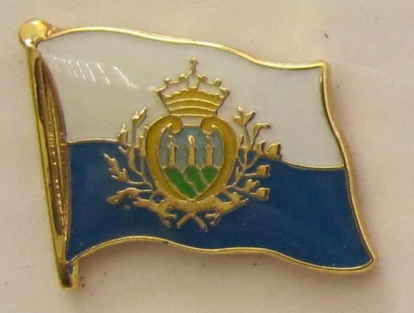 Pin Anstecker Flagge Fahne San Marino