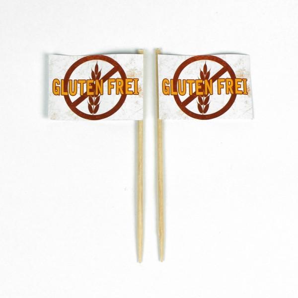 Party-Picker Flagge Glutenfrei 2 Weizen Papierfähnchen in Spitzenqualität 50 Stück Beutel