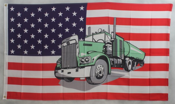Flagge Fahne : USA / Truck