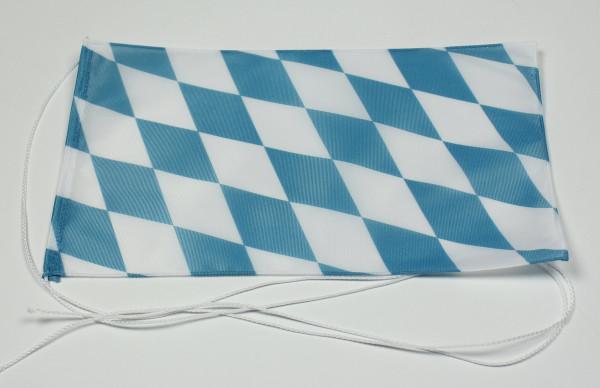 Tischflagge Bayern nur Raute 25x15 cm optional mit Holz- oder Chromständer Tischfahne Tischfähnchen