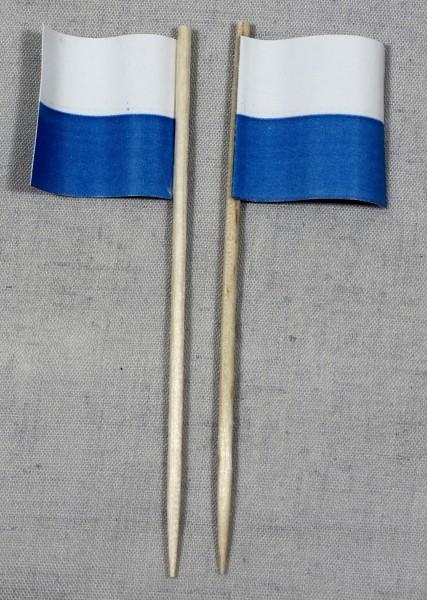 Party-Picker Flagge Luzern Kanton Schweiz Papierfähnchen in Spitzenqualität 50 Stück Beutel