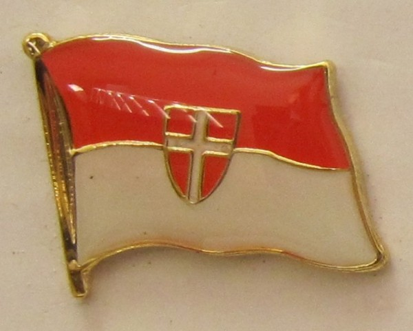 Pin Anstecker Flagge Fahne Wien Österreich Stadtflagge