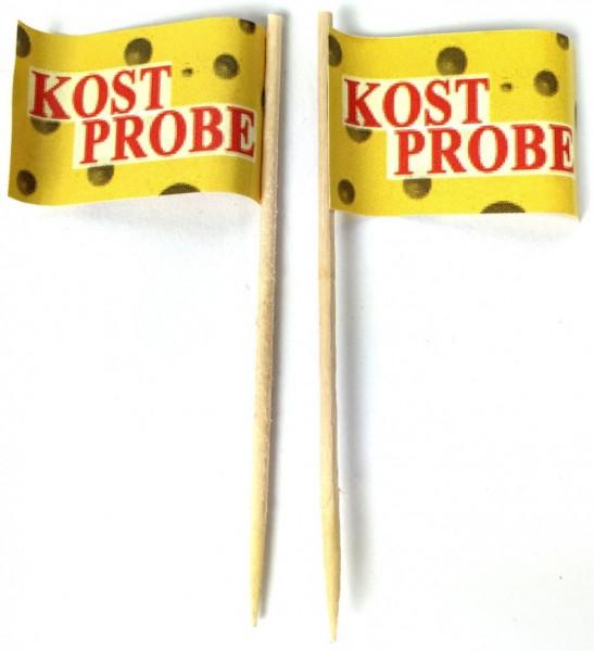 Party-Picker Flagge Kostprobe Papierfähnchen in Spitzenqualität 50 Stück Beutel