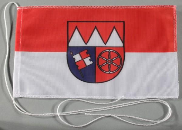 Tischflagge Unterfranken Franken 25x15 cm optional mit Holz- oder Chromständer Tischfahne Tischfähnc
