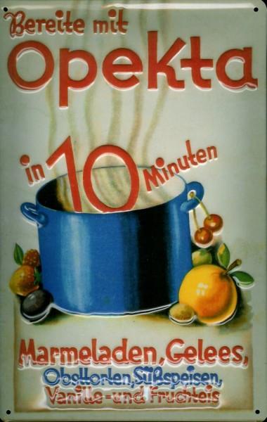 Blechschild Opekta Marmelade Schild Küchendekoration