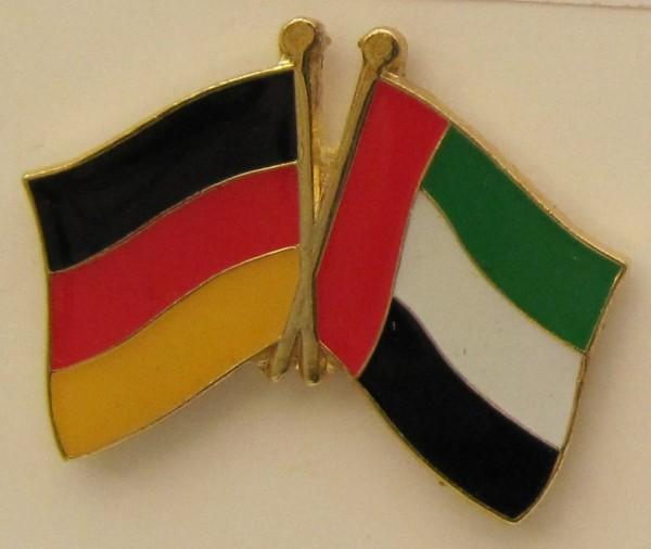 Vereinigte Arabische Emirate UAE / Deutschland Freundschafts Pin Anstecker Flagge Fahne Nationalflag