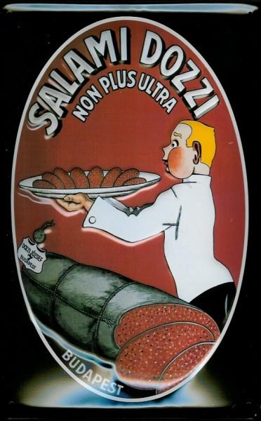 Blechschild Salami Dozzi Wurst Budapest Ungarn Schild Nostalgieschild