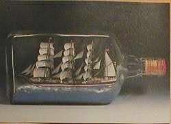 Buddelschiff - Postkarte bb08