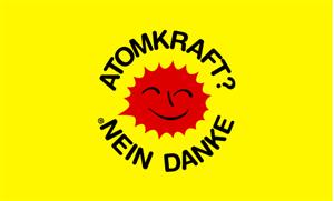 Flagge Fahne Atomkraft Nein Danke 90x60 cm