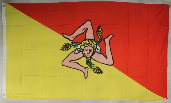 Flagge Fahne : Sizilien Italien Sizilienflagge