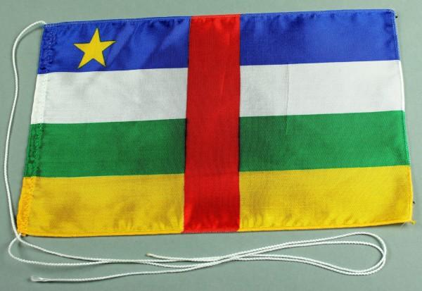 Tischflagge Zentralafrikanische Republik 25x15 cm optional mit Holz- oder Chromständer Tischfahne Ti