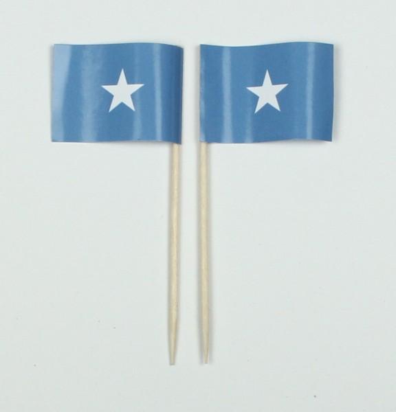 Party-Picker Flagge Somalia Afrika Papierfähnchen in Spitzenqualität 50 Stück Beutel
