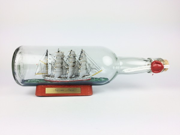 Nippon Maru Japan runde Flasche 0,7 Liter Buddelschiff Museumsqualität