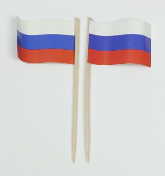 Party-Picker Flagge Russland Papierfähnchen in Spitzenqualität 50 Stück Beutel