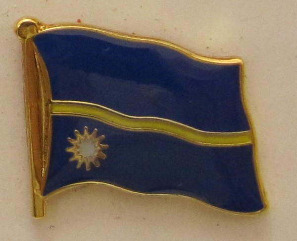 Nauru Pin Anstecker Flagge Fahne Nationalflagge