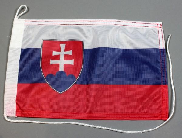 Bootsflagge : Slowakei 30x20 cm Motorradflagge