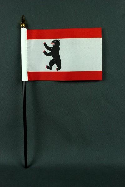 Kleine Tischflagge Berlin 10x15 cm optional mit Tischfähnchenständer