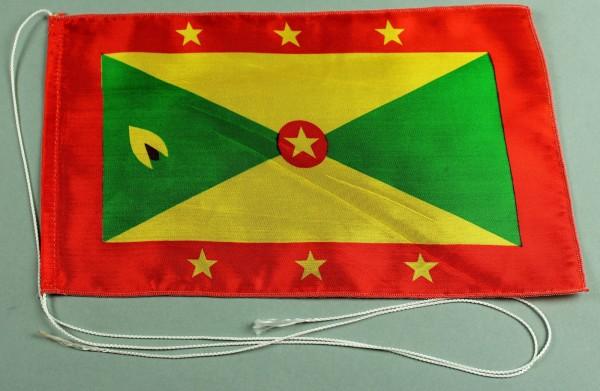 Tischflagge Grenada 25x15 cm optional mit Holz- oder Chromständer Tischfahne Tischfähnchen