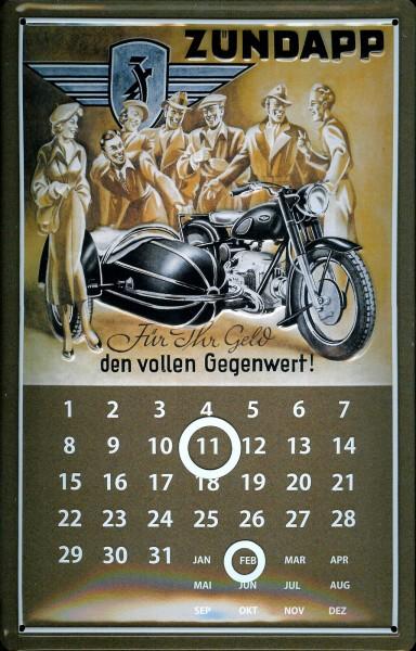 Blechschild Zündapp Motorrad Beiwagen Gespann Moped Magnetkalender Nostalgieschild