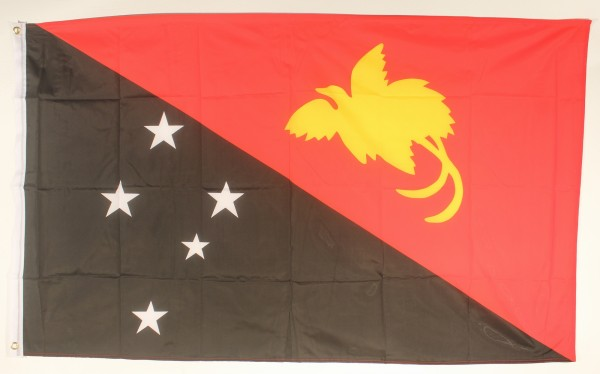 Flagge Fahne : Papua Neuguinea Nationalflagge Nationalfahne