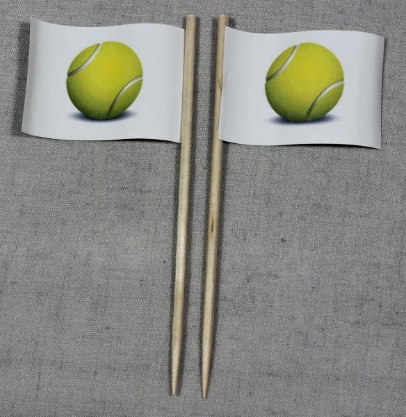 Party-Picker Flagge Tennisball Tennis Papierfähnchen in Spitzenqualität 50 Stück Beutel