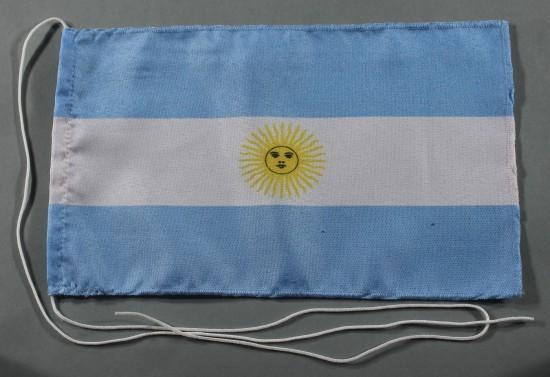 Tischflagge Argentinien 25x15 cm optional mit Holz- oder Chromständer Tischfahne Tischfähnchen