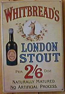 Blechschild Whitbread s London Stout Beer Bier retro Schild Werbeschild