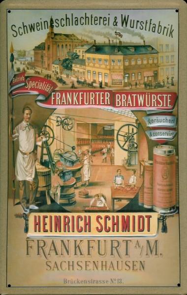 Blechschild Frankfurter Bratwurst Wurst Sachsenhausen Schild