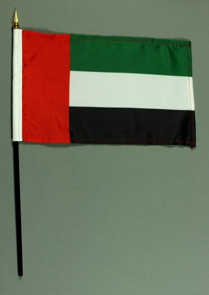 Tischflagge Vereinigte Arabische Emirate VAE 15x25 cm BASIC optional mit Tischflaggenständer