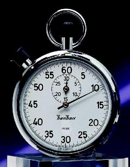 Mechanische analog Stoppuhr Hanhart 1/5 sec 30 min