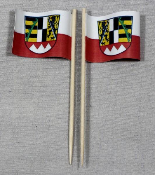 Party-Picker Flagge Oberfranken Papierfähnchen in Spitzenqualität 50 Stück Beutel