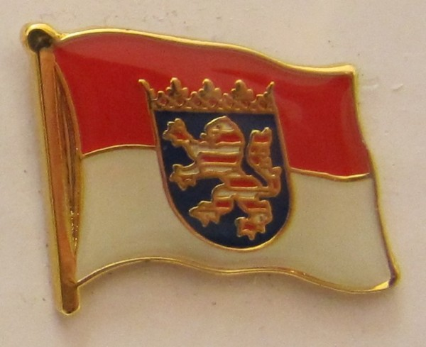 Pin Anstecker Flagge Fahne Hessen Landesflagge Flaggenpin Button Badge Flaggen Clip Anstecknadel
