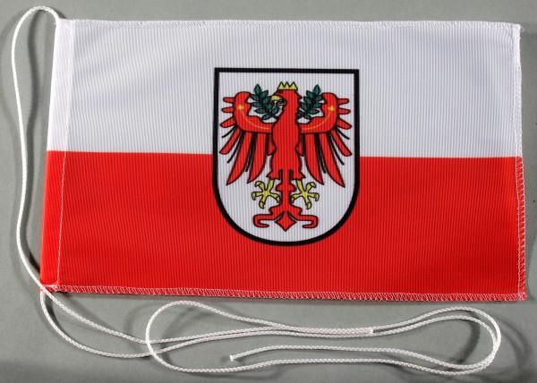 Tischflagge Tirol Österreich 25x15 cm optional mit Holz- oder Chromständer Tischfahne Tischfähnchen