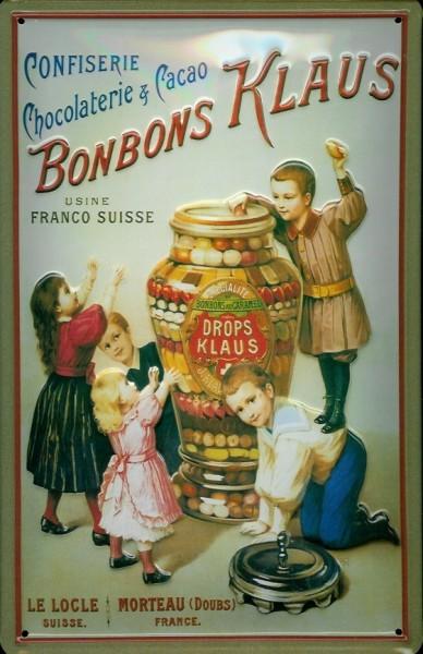 Blechschild Bonbons Klaus Schokolade Bonbon Schweiz Schild Nostalgieschild