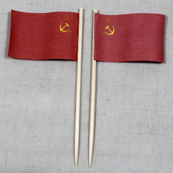Party-Picker Flagge Sowjetunion UdSSR Papierfähnchen in Spitzenqualität 50 Stück Beutel