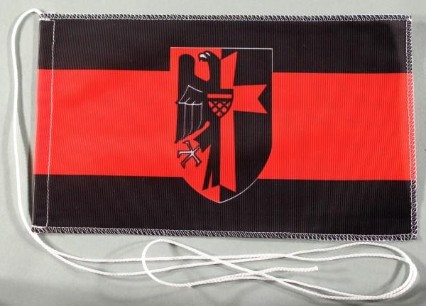 Tischflagge Sudetenland 25x15 cm optional mit Holz- oder Chromständer Tischfahne Tischfähnchen