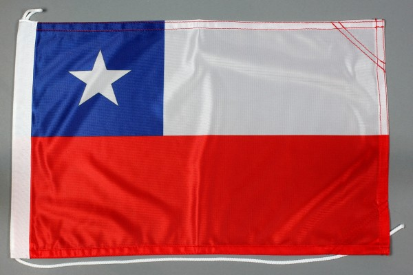 Bootsflagge Chile 30x45 cm Motorradflagge Bootsfahne