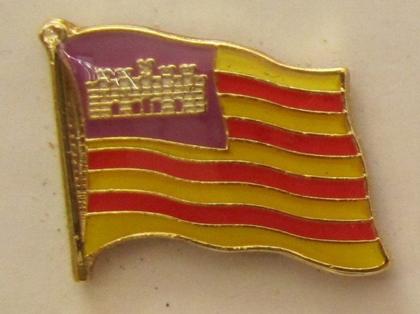 Pin Anstecker Flagge Fahne Balearen Flaggenpin Button Badge Flaggen Clip Anstecknadel