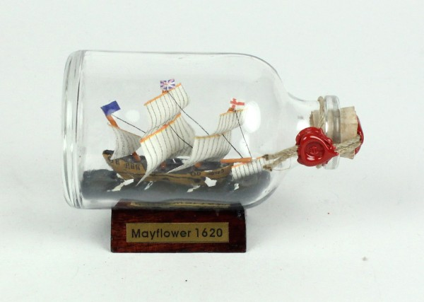 Mayflower Mini Buddelschiff 50 ml ca. 7,2 x 4,5 cm Flaschenschiff