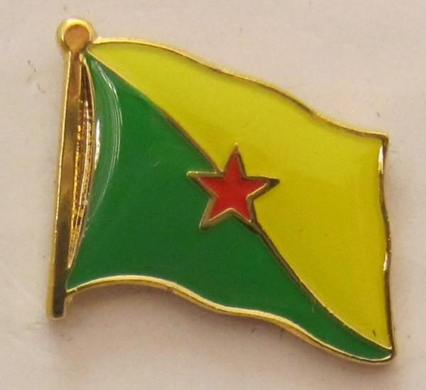 Französisch Guyana Pin Anstecker Flagge Fahne Nationalflagge