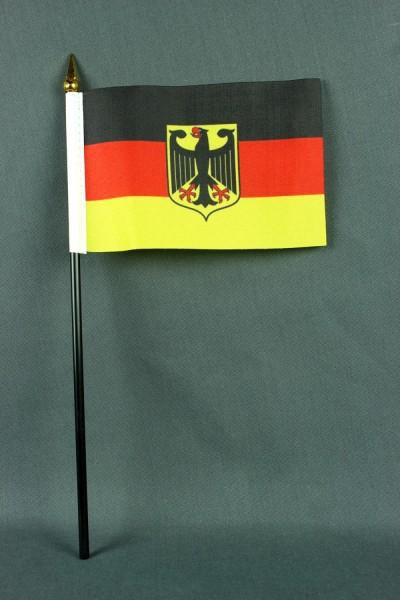 Kleine Tischflagge Deutschland Bundesdienstflagge Adler 10x15 cm optional mit Tischfähnchenständer