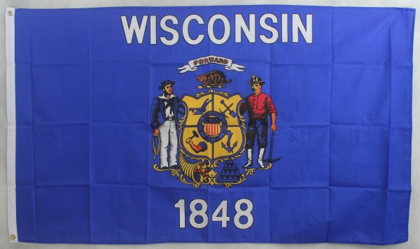 Flagge Fahne : Wisconsin