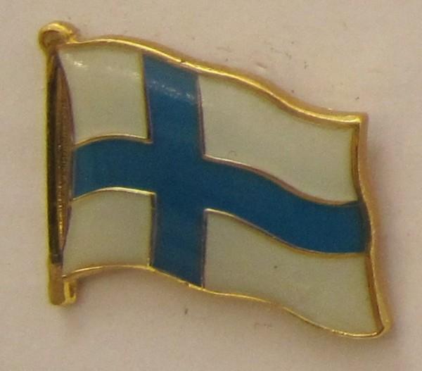 Pin Anstecker Flagge Fahne Finnland Staatsflagge Flaggenpin Button Badge Flaggen Clip Anstecknadel