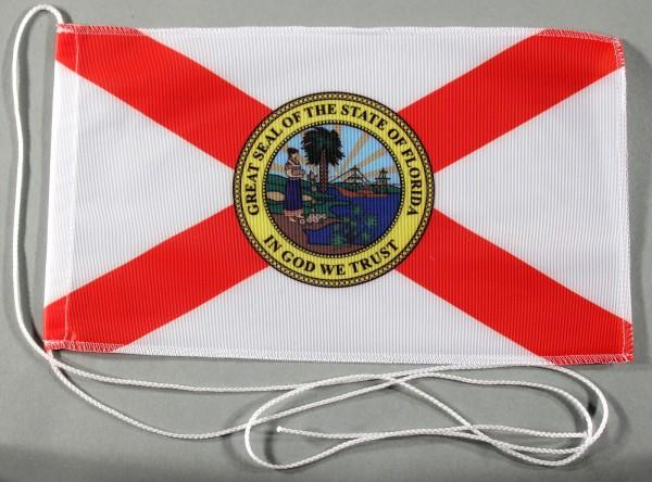 Tischflagge Florida USA Bundesstaat US State 25x15 cm optional mit Holz- oder Chromständer Tischfahn
