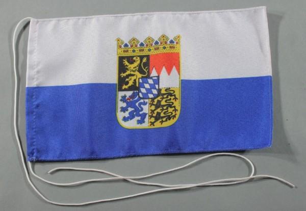 Tischflagge Bayern Dienstflagge Landesflagge 25x15 cm optional mit Holz- oder Chromständer Tischfahn