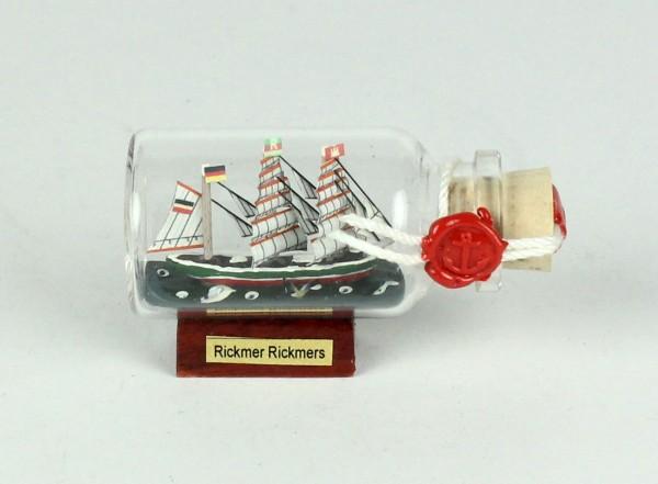 Rickmer Rickmers Mini Buddelschiff 10 ml 6x3,5 cm Flaschenschiff