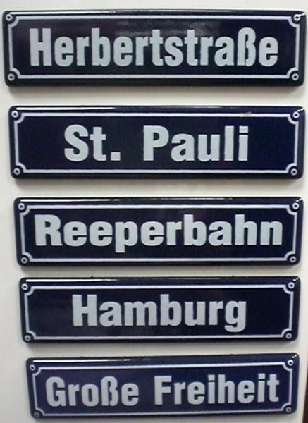 Magnet Emaille Hamburg Set 5 Stück Magnetset Souvenir