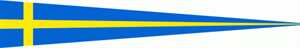 Langwimpel Schweden 30x150 cm