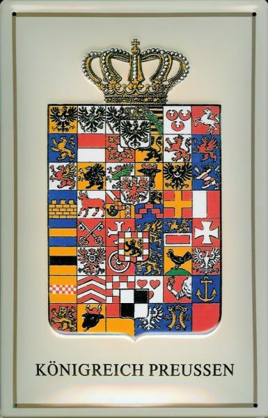 Blechschild Nostalgieschild Königreich Preussen Wappen Preußen